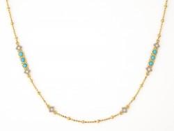 JudeFrances 18KY Lisse Bar Diamond Cut Chain