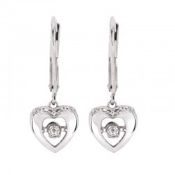 SS Shimmering Diamonds® Dangling Heart Earrings