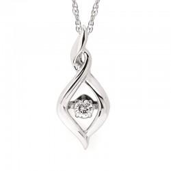 SS Shimmering Diamonds® Twisted Tear Drop Pendant