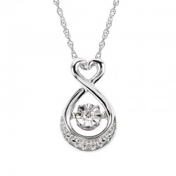 SS Shimmering Diamonds® Heart Drop Pendant