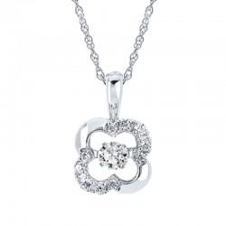 SS Shimmering Diamonds® Clover Pendant