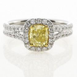 18KW Yellow & White Diamond Ring