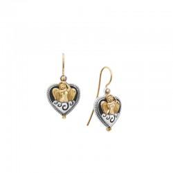 Women's Sterling Silver & 18KY Angel Heart Drop Earrings