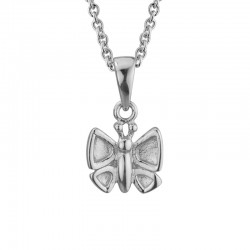 Silver Children's Butterfly Pendant on 14