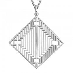 Silver Deco Angles Pendant