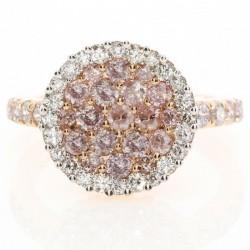 18KR Pink & White Diamond Fashion Ring