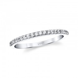 14KW Fishtail Set Diamond Wedding Band