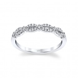 14KW Diamond Milgrain Band .14Ct Tw 21 Round Diamonds