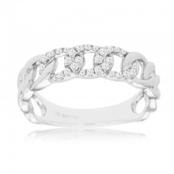 14KW Diamond Chain Link Ring