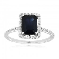 14KW Sapphire & Diamond Ring