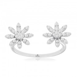 14KW Diamond Flower Ring
