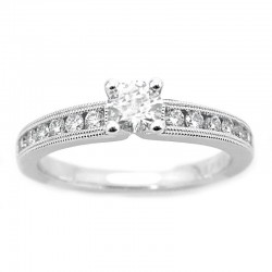 14KW Channel Set Diamond Engagement Ring
