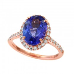 14KR Tanzanite and Diamond Ring