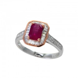 14KWR Ruby and Diamond Ring