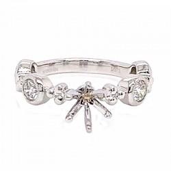 18KW Diamond Semi-Mount Engagement Ring