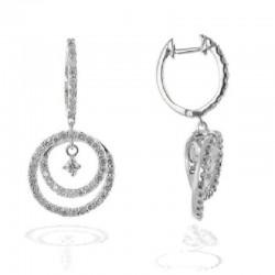 Ryan Gems 14K White Gold Diamond Swirl Drop Earrings