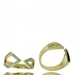 Ryan Gems 14K Yellow Diamond Open Ring