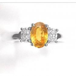 Ryan Gems 14K White Gold Diamond & Sapphire Ring