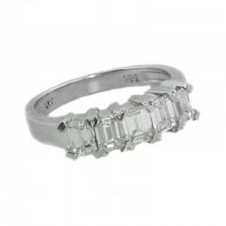 Ryan Gems 14K White Gold Diamond 5 Stone Wedding Band