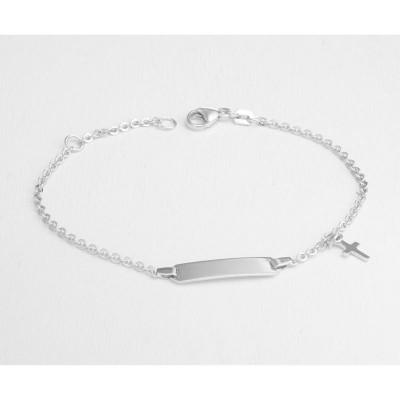 Silver Puffy Heart Bracelet