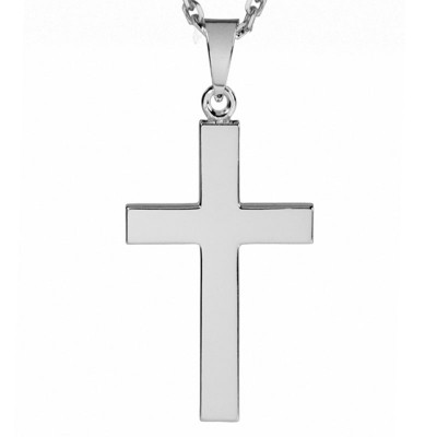 Silver Plain Cross Pendant