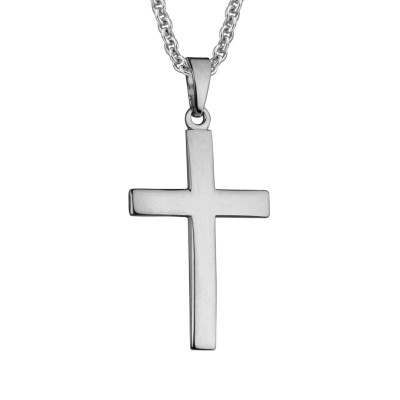 Silver contour Coross Pendant