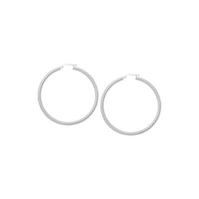 14KW Twisted Rope Hoop Earrings