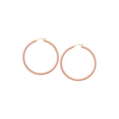 14KR Rope Twist Earrings