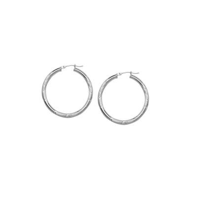 14KW Hoop Earrings Florentine