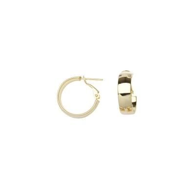 14KY Small Wide Hoop Earrings