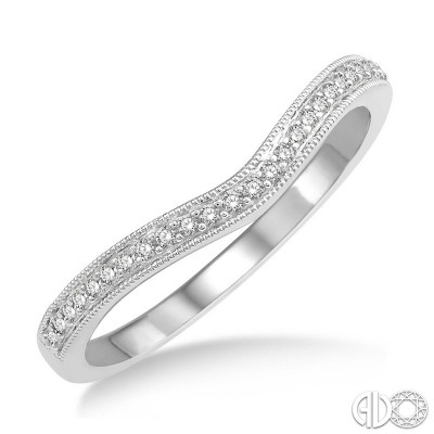 14k White Gold 2 pc bridal set with .35ct oval center in halo with baguette accents and diamonds on shank with miligrain edge
