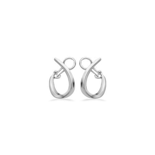 Sterling Silver U  Hoop Earrings