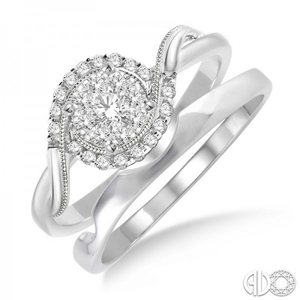 14KW .30ct tw LoveBright Diamond Wedding Set