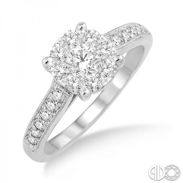 14k White Gold .75ct tw LoveBright Diamond Ring