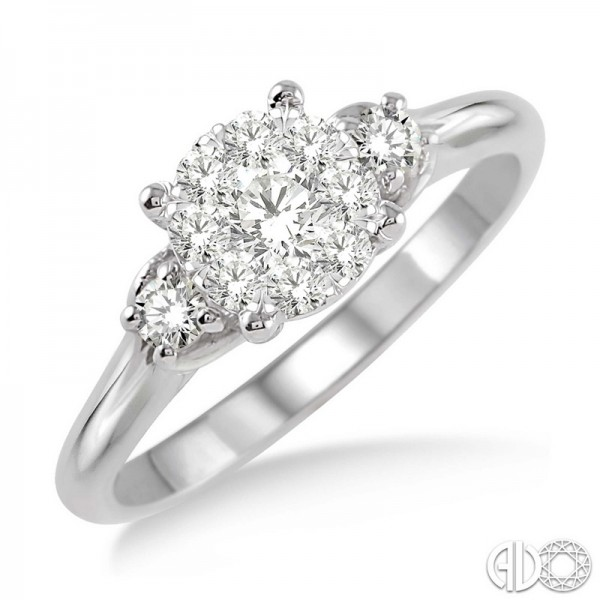 14k White Gold .45ct tw LoveBright Diamond Ring
