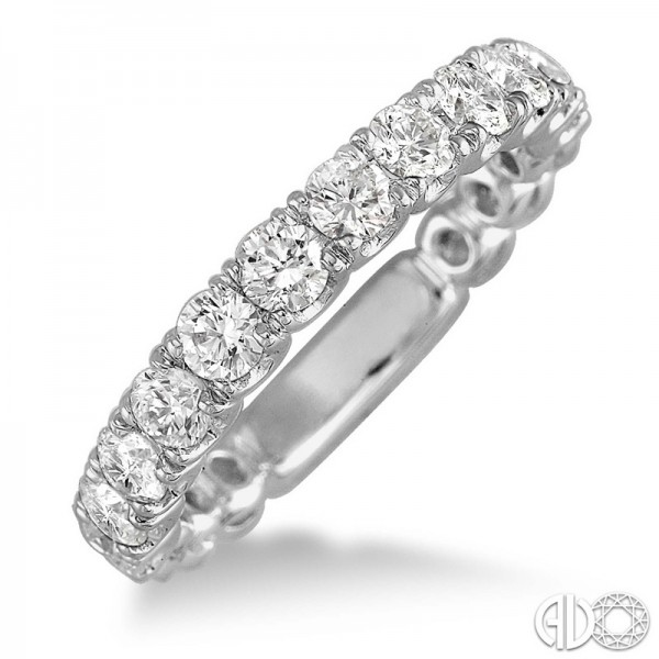 14k White Gold .80ct tw Diamond Wedding Band