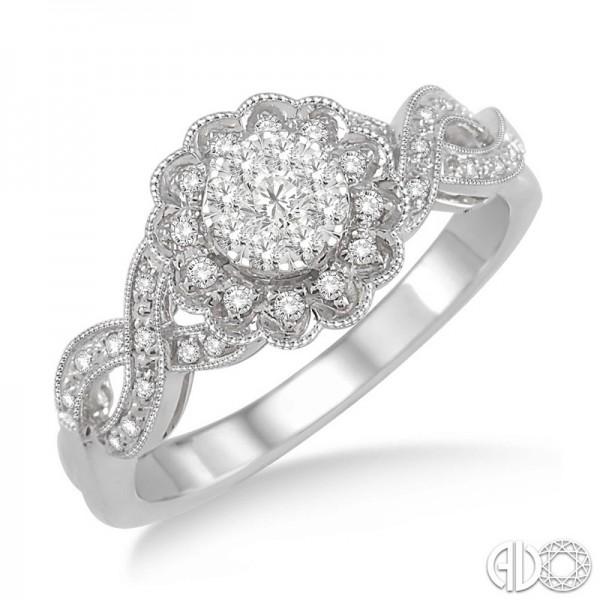 14k White Gold LoveBright Ring