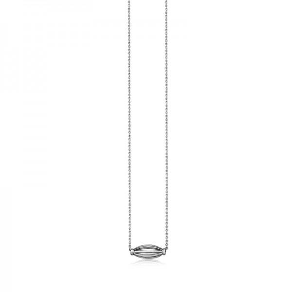 Sterling Silver Birdcage Slide Necklace