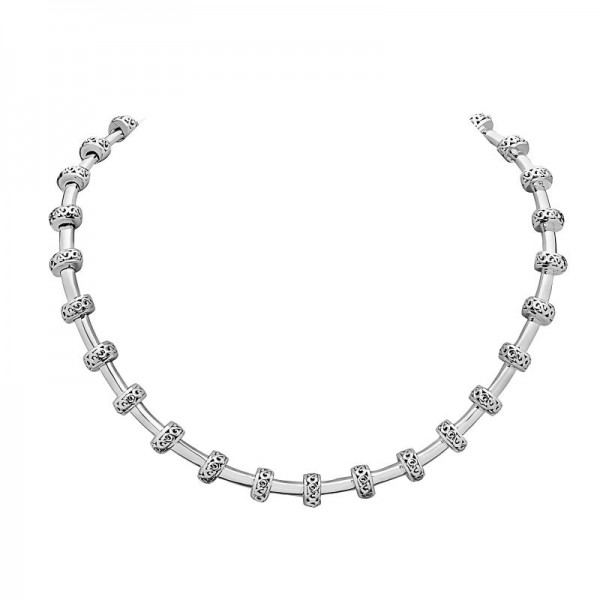 Sterling Silver Ivy Petite Rondel Tube Necklace