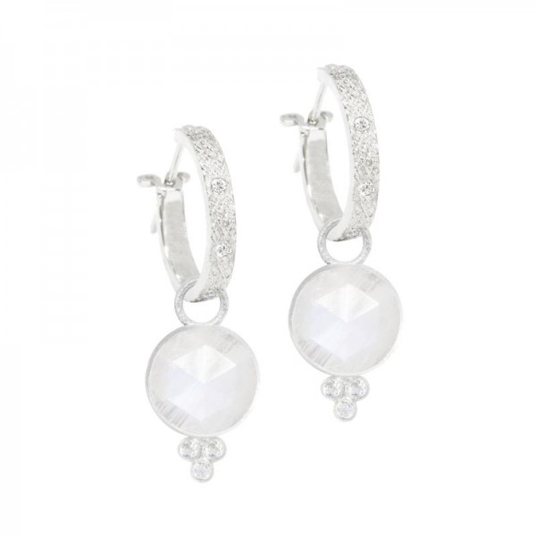Chloe Moonstone Silver Earring Charms (Charms only)