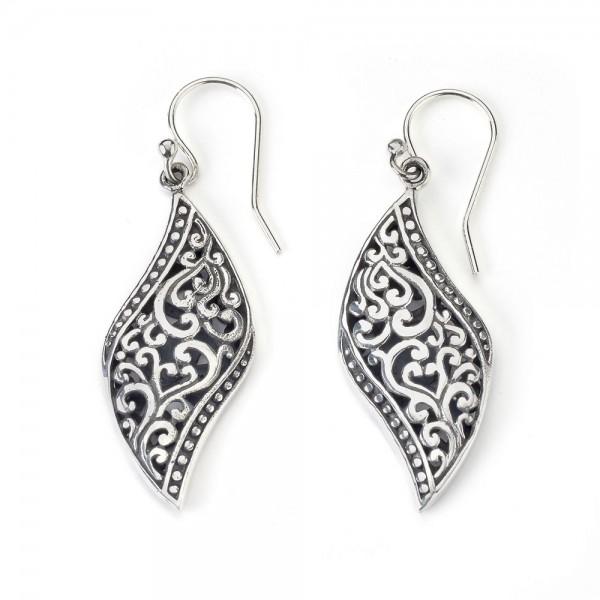 Samuel B. Sterling Silver Bali Swirl Earrings