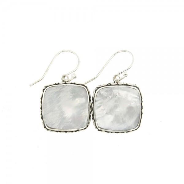Samuel B. Sterling Silver Balinese Design MoP Earrings