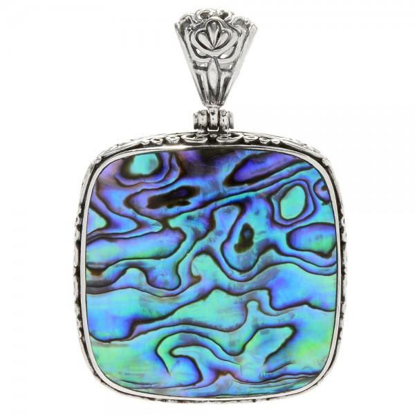 Samuel B. Sterling Silver Square Abalone Pendant