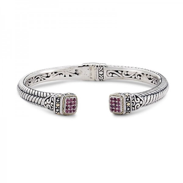 Samuel B. Sterling Pave Ruby Bangle