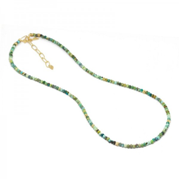 Chloe Turquoise 18KY Necklace