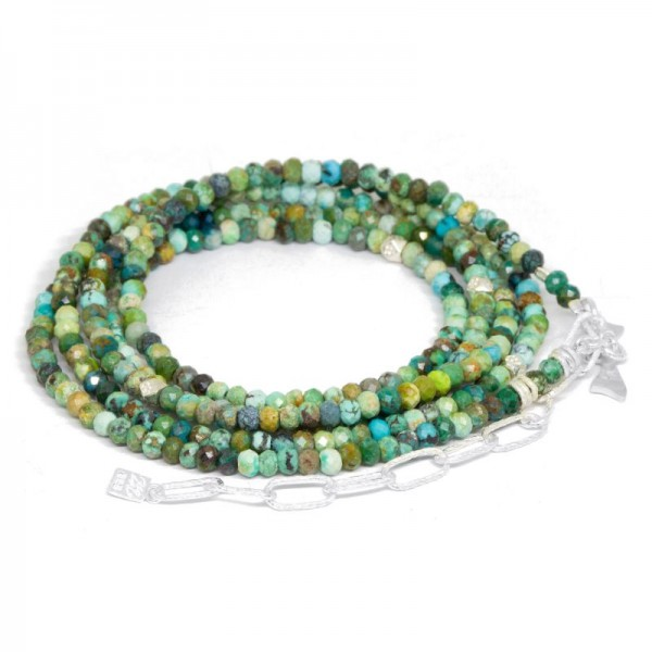 Chloe Turquoise Silver Convertible Wrap