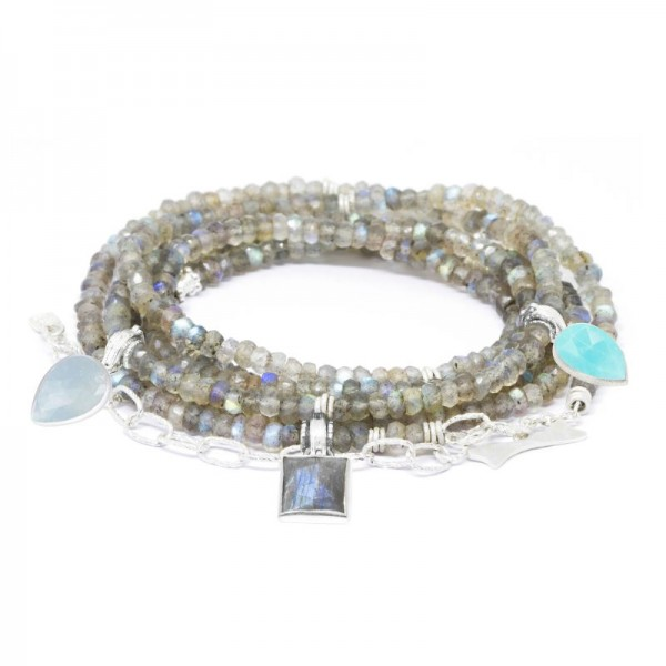 Jacket Friendly Heritage Labradorite Silver Convertible Wrap