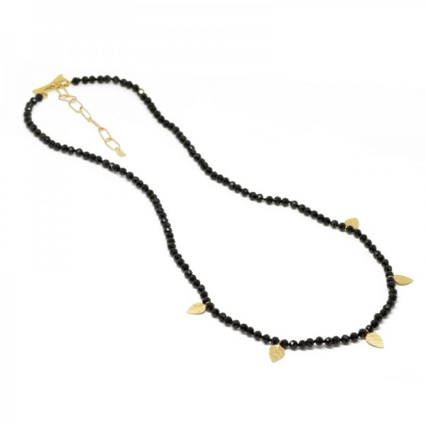 Heritage Black Spinel 18KY Necklace