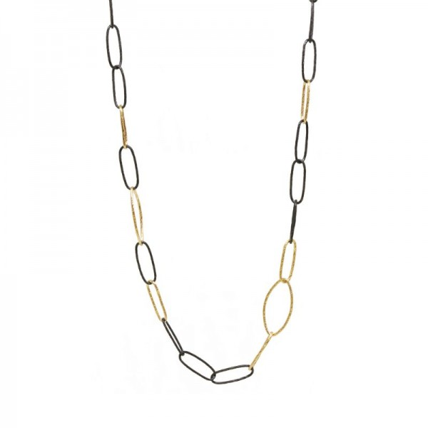 Marquise Small Silver Necklace