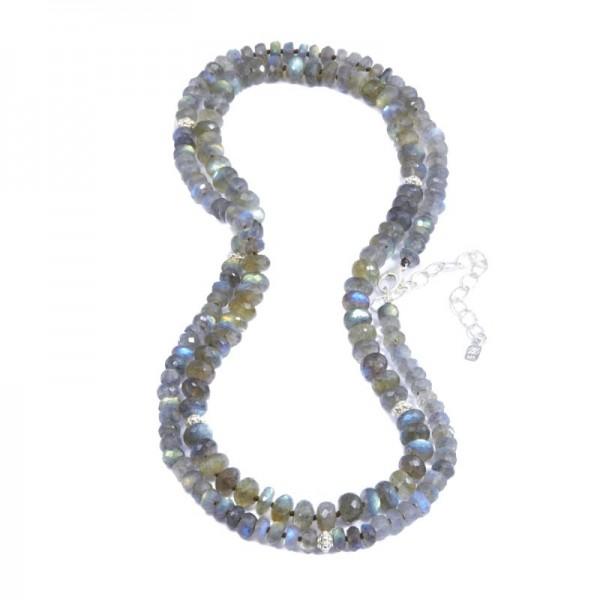Heirloom Labradorite Silver Necklace